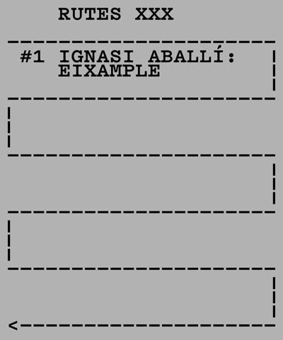 rutes xxx Ignasi Aballi